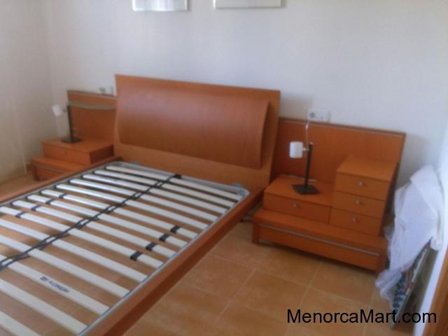 Double bed and side units